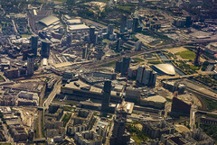 Stratford from the Air (London Less Travelled) Tags: uk unitedkingdom england britain london eastlondon stratford westfield olympic olympicpark view aerial birdseye air city building urban sky