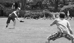 Baseball / Catch, Cantigny Park. 1 (EOS) (Mega-Magpie) Tags: canon eos 60d outdoors cantigny park wheaton dupage il illinois usa america baseball catch guys people person bw black white mono monochrome