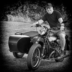 Me and a Dnepr (Role Bigler) Tags: dnepr bike man hombre sidecar