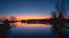 Oijärvi sunset and spring flood (M.T.L Photography) Tags: oijärvi springflood water lake tree serene tyyni peilityyni vesi boat night mtlphotography mikkoleinonencom panoramicphotography lappi lapland sand