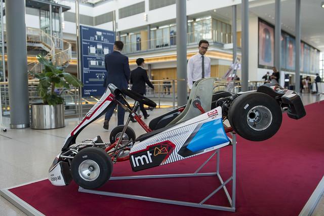 LMT Autosporta Academy electric go kart on display