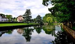 La Venoge à L'Isle (Diegojack) Tags: lisle vaud suisse d7200 paysages rivière pont reflets venoge ciel nuages groupenuagesetciel fabuleuse