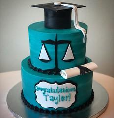 Law graduation cake (Retro Bakery in Las Vegas) Tags: law graduation cake