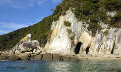 Cave and rock formations on the coastline (rebecca bowater nature photographer) Tags: rock caves sea seascape granite