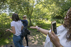 DSC_2173 (photographer695) Tags: wintrade rest recreation hyde park london feeding parakeet birds with nicole ross