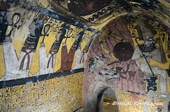 Osiris and goddesses (konde) Tags: 19thdynasty deirelmedina tomb tt218 tt219 tt220 ancientegypt thebes luxor hieroglyphs art goddess osiris isis nut nepthys nephtys ankh newkingdom