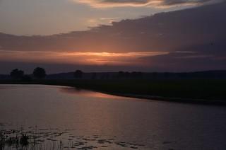 Sonnenaufgang an der Alten Treeneschleife in Süderhöft, Nordfriesland (8)