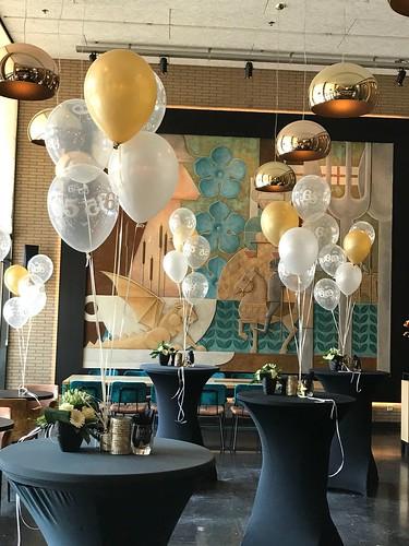 Tafeldecoratie 5ballonnen 50 Jaar