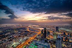 Sunrise at Burj Khalifa (Siebring Photo Art) Tags: burjkhalifa dubai dubaimall dubaimarina dubaiskyline emirates uae lighttrails rooftop skyline sunrise verenigdearabischeemiraten ae