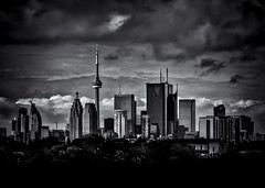 Toronto Skyline From The Pape Ave Bridge No 2 (thelearningcurvedotca) Tags: briancarson canada canadian ontario thelearningcurvephotography toronto architecture background blackwhite blackandwhite bnw buildings city cityscape clouds district downtown exterior famous foto landmark landscape light location metropolis modern monochrome outdoors photo photograph photography place scene scenery sky skyline skyscrapers tower travel urban view absolutearchitecture awardflickrbest bwartaward bwmaniacv2 bej blackwhitephotos blackandwhiteonly blogtophoto bwemotions cans2s discoveryphotos iamcanadian linescurves noiretblanc torontoist true2bw yourphototips
