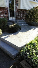 Granite steps with walkway