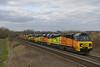 Triple on the enginers (DieselDude321) Tags: 70808 70812 70802 class 70 colas rail 6o31 1730 westbury down tc eastleigh east yard upton scudamore warminster
