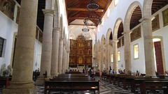 Cartagena (Tomas Belcik) Tags: church interior columns cathedral cartagena colombia oldtown streets lanes colonial architecture colonialarchitecture