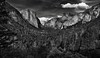 Amazing Tonal Contrast to an Amazing View of Yosemite Valley (Black & White) (thor_mark ) Tags: nikond800e lookingeast day6 triptopasoroblesandyosemite yosemitenationalpark capturenx2edited colorefexpro blackwhite silverefexpro2 tunnelview halfdome pacificranges sierranevada yosemiterittersierranevada centralyosemitesierra yosemitevalley outside trees hillsideoftrees blueskieswithclouds mountains mountainsindistance mountainsoffindistance nearsunset sunsettime sunsetlight evergreens landscape nature bridalveilfall cathedralrocks falls waterfall waterfalls 617ft188metres ahwahneecheenamepohono spiritofthepuffingwind 3000feethighgranitemonolith 900meterhighgranitemonolith elcapitan totokonoolah mountainside sentinelpoint cloudsrest sentinelrock contrail canvas portfolio project365 california unitedstates