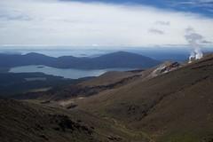 Te Māri volcanic vents, Lake Rotoaira and Lake Taupo (Tom Doel) Tags: temaari volcanic vent tongariro tongariroalpinecrossing newzealand crater lake taupo rotoaira view