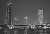 Bangkok (mokastet) Tags: mokastet asia bangkok river bridge blackandwhite blackwhite noiretblanc night nightshot afterdark