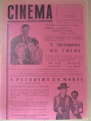 "Panfleto de publicidade ao filme ""A Testemunha do Crime"" (ACMateus) Tags: antiguidades coleccionismo velharias publicidade panfleto"