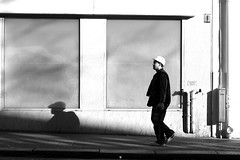 The worker (pascalcolin1) Tags: paris13 homme man travailleur worker ombre shadow lumière light soleil sun photoderue streetview urbanarte noiretblanc blackandwhite photopascalcolin 50mm canon50mm canon