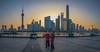 Shanghai Sunrise (Mark Lehmkuhler) Tags: shanghai sunrise kite pudong china panorama hdr