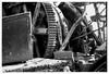 Gears (Joe Pitz) Tags: rusty rustic gears train museum bw monochrome