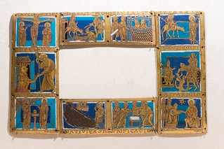 Plaque from a portable altar with scenes of the life of Jesus