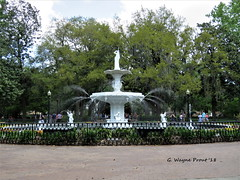 Forsyth Fountain (Gerald (Wayne) Prout) Tags: forsythfountain forsythpark cityofsavannah chathamcounty georgia usa prout geraldwayneprout canon canonpowershotsx60hs powershot sx60 hs digital camera photographed photography forsyth fountain water city savannah chatham county stateofgeorgia park viewing historicdistrictsouth history historic victoriandistrict french design ornamental cherubs