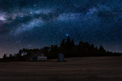 Prairie Farm (.:: Nelepl ::.) Tags: moulton barn rural scene praires farm milky way stars night nightscape billion autumn fall secluded landscape galaxy country abandoned manitoba canada parklands field agriculture