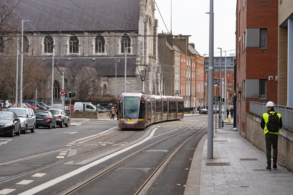 DOMINICK STREET DUBLIN [TRAMS AND TRACKS]-137849