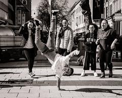 Street Dancers - Jukebox Collective (raymorgan4) Tags: jukebox collective street dancers butetown cardiff since school fujifilm fujifilmx100f fujifilmglobal x100f blackandwhite monochrome queenstreet break fitness