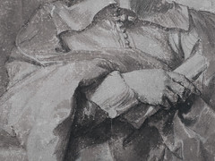 VAN DYCK Antoon - Portrait de Robert van Voerst, Graveur (drawing, dessin, disegno-Louvre INV19908) - Detail 14 (L'art au présent) Tags: art painter peintre details détail détails detalles drawings dessins dessins17e 17thcenturydrawings louvre museum paris france dessinshollandais dutchdrawings dutchpainters peintreshollandais lavis wash antoonvandyck antoon antoine anton bible figures personnes people pose model portrait portraits face faces visage printer man men homme tribute hommage