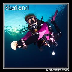 _MG_1841 (Graggs) Tags: blue canon5dmkii diving scuba similanislands thailand uwp underwater underwaterphotography diver decor safetystop schnellswindow sunburst