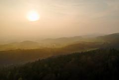 Teuto im Dunst (O.I.S.) Tags: bielefeld nordrheinwestfalen deutschland de teuto teutoburger wald frühling sonnenuntergang dji spark dunst fog mist mtb copter schwedenschanze kirchdornberg