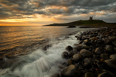 good morning from dunstanburgh castle (akh1981) Tags: seaside seascape sunrise sky dunstanburghcastle manfrotto morning nikon nature nisi nisifilters outdoors rocks wideangle walking water landscape ocean beautiful travel