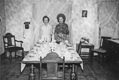 party (Leifskandsen) Tags: old vintage telephone woman table dinner scanned camera leifskandsen skandsenimages