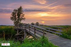 Sunset Zonsondergang Sandebuur Drenthe (Reina Smallenbroek) Tags: reinasmallenbroek sandebuur drenthe landscape landschap netherlands sunset zonsondergang bridge brug onlanden canonnederland leefilters lee lee09softgrad