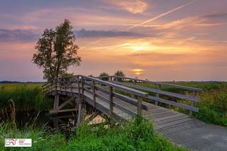 Sunset Zonsondergang Sandebuur Drenthe