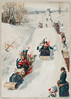 """""""Tobogganing"""" chromolithograph (1886) by Henry Sandham (1842-1910). (Free Public Domain Illustrations by rawpixel) Tags: otherkeywords antique artworkstory cc0 celebration child childhood children christmas cold creativecommon0 creativecommons0 drawing family festival friends fun handdrawing happiness henrysandham holiday holidays illustration joyful kids locimage occasion outdoors outskirt party play publicdomain racing seasons show sled sledge sleigh snow tobogganing toboggans togetherness traditional vintage winter woman xmas young"""