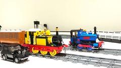 Some small updates (Britishbricks) Tags: moc vintage car wip engine train steam andrewbarclay stepney lego