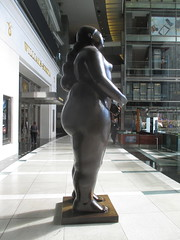 Tall Lady Woman Sculpture by Botero 2018 NYC 3605 (Brechtbug) Tags: woman sculpture by fernando botero colombian artist metal bronze nude female art sculptures front glassed lobby time warner building columbus circle thinker thinking wings nudes architecture statues statue gargoyle gargoyles new york city broadway store shopping center mall heavy zaftig puffy hefty big boned sturdy tall 2018 nyc 06152018 lady portrait