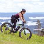 coming downhill with ebike in Tahko thumbnail
