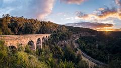 Zig Zag Viaduct (scotty-70) Tags: train bridge viaduct sun sunstar laowa sky cloud bluemountains