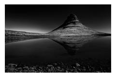 Kirkufell   Iceland (www.davidrosenphotography.com) Tags: kirkufell mountain iceland reflection mono bw blackwhite