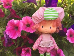 Raspberry Tart (Foxy Belle) Tags: doll strawberry shortcake 1980s outside flower garden nature raspberry tart pink