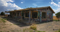 Abandoned shop (stuarttuckfield) Tags: arkansas interstate40 roadtrip abandonedbuildings abandoned abandonedshop graffiti canon6d 24105mm usa colours shopping creepy