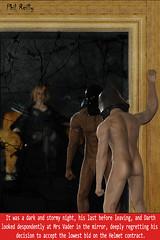 darth Vader's Wardrobe Malfunction (jpringleplr) Tags: darth vader helmet mrs regret contract toy 16 scale modelstar wars model star miniature funny fun risque naughty