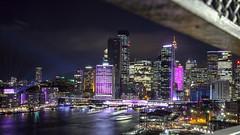 Vivid Sydney 2018 -  Light, Music & Ideas Festival (9) (geemuses) Tags: sydney vividsydney2018 light music ideasfestival sydneyoperahouse colour timelapsephotography sydneyharbourbridge sydneyharbour water extendedexposure projections nightphotography sky contrast