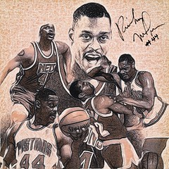 98 - Rick Mahorn (Bob Smerecki) Tags: smackman snapnpiks robert bob smerecki sports art digital artwork paintings illustrations graphics oils pastels pencil sketchings drawings virtual painter 6 watercolors smart photo editor colorization akvis sketch drawing concept designs gmx photopainter 28 draw hollywood walk fame high contrast images movie stars signatures autographs portraits people celebrities vintage today metamorphasis 002 abstract melting canvas baseball cards picture collage jixipix fauvism infrared photography colors negative color palette seeds university michigan football ncaa mosaic