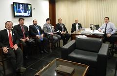 Audiência com representantes do Ministério da Fazenda, entre eles o coordenador de Administração Aduaneira, Jackson Corbari
