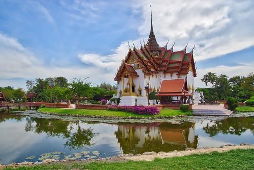 Replica of Dusit Maha Prasat Palace in Muang Boran, Samut Phrakan, Thailand