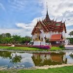 Replica of Dusit Maha Prasat Palace in Muang Boran, Samut Phrakan, Thailand thumbnail
